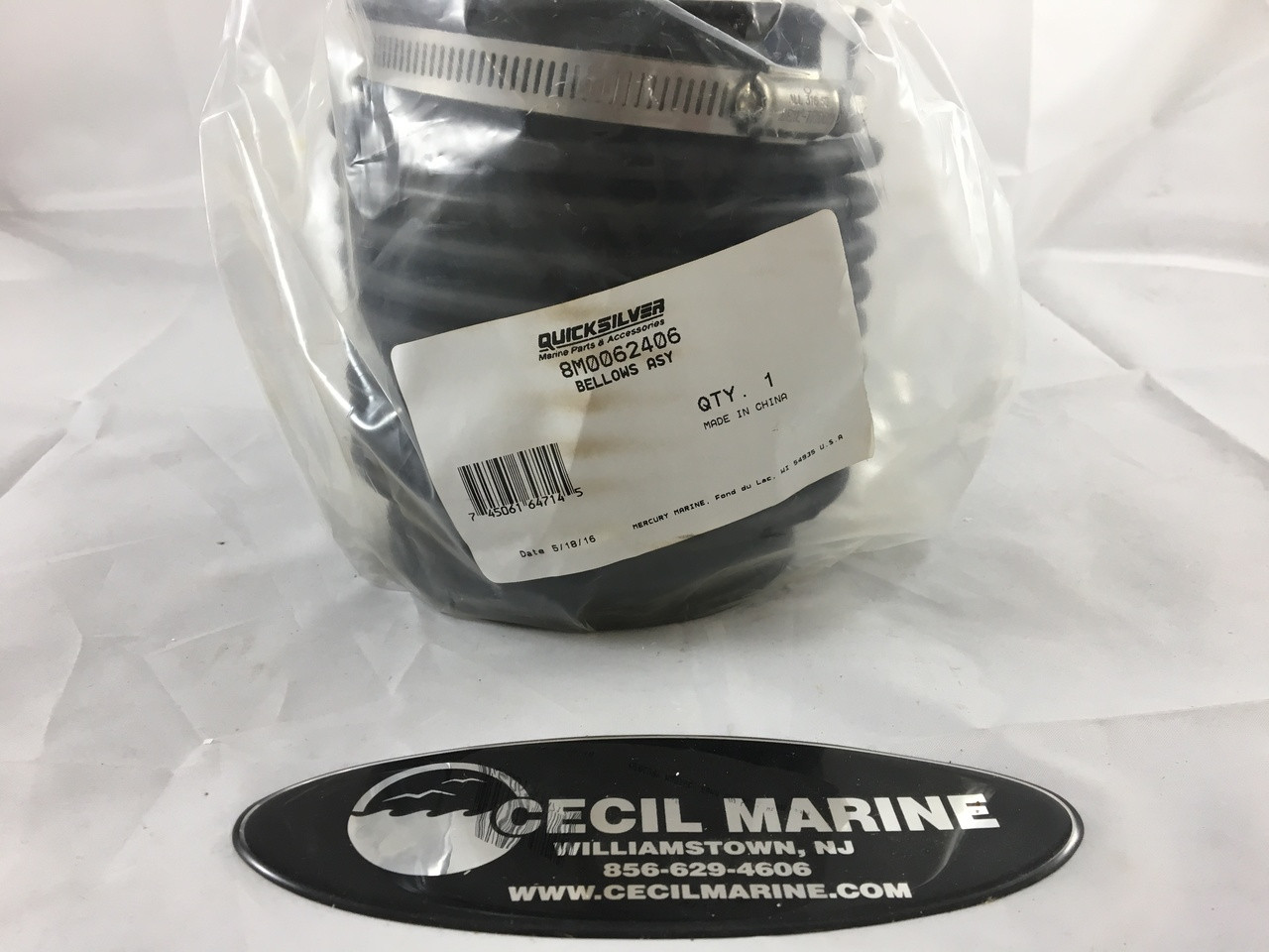 ** $75.50 **GENUINE MERCRUISER U JOINT BELLOWS - 8M0062406 ** IN STOCK & READY TO SHIP! **
