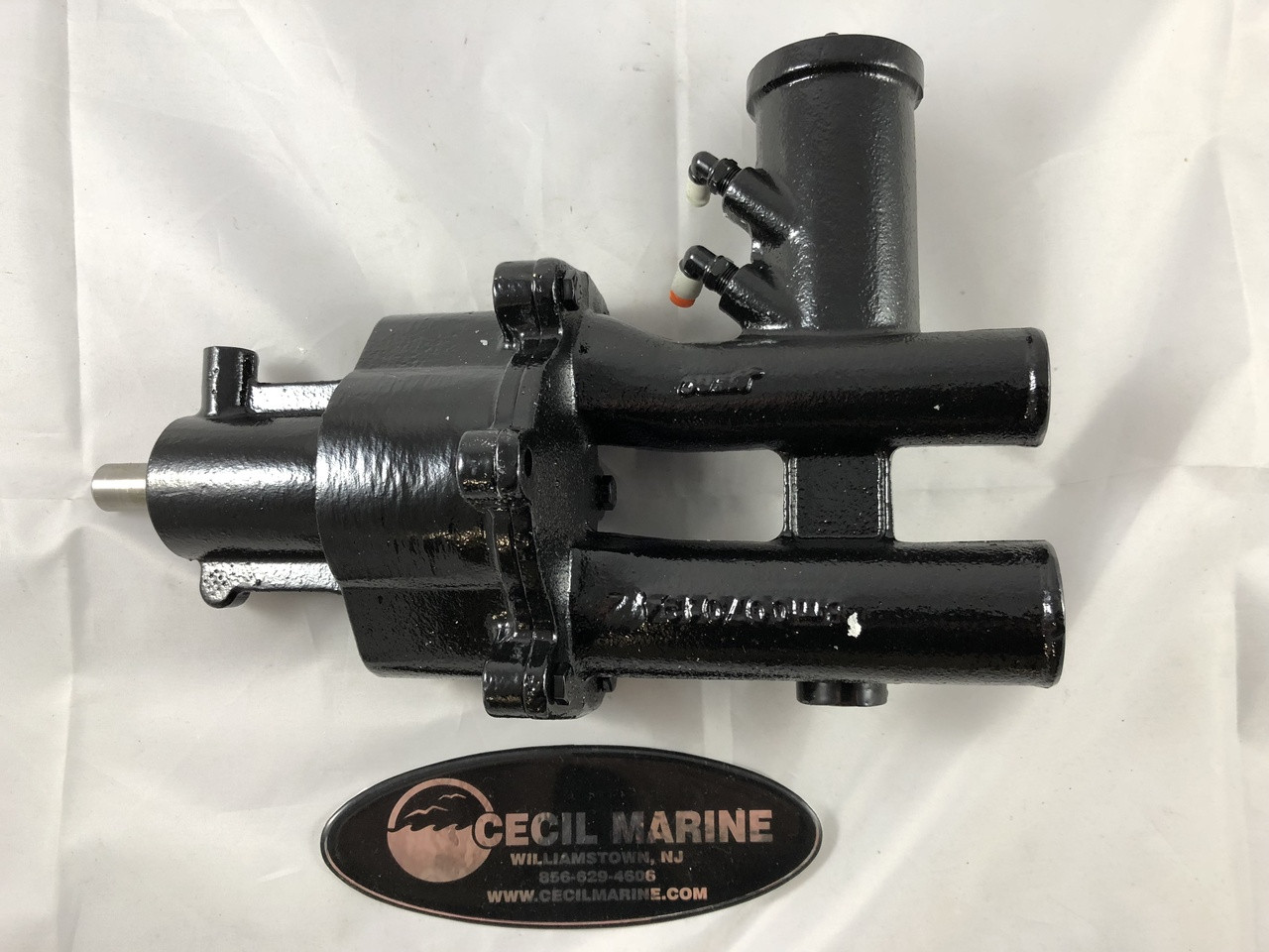 ** $623.48 **GENUINE MERCRUISER BRASS SEAWATER PUMP WITH AIR FITTINGS  46-8M0122658 - ** IN STOCK & READY TO SHIP! **