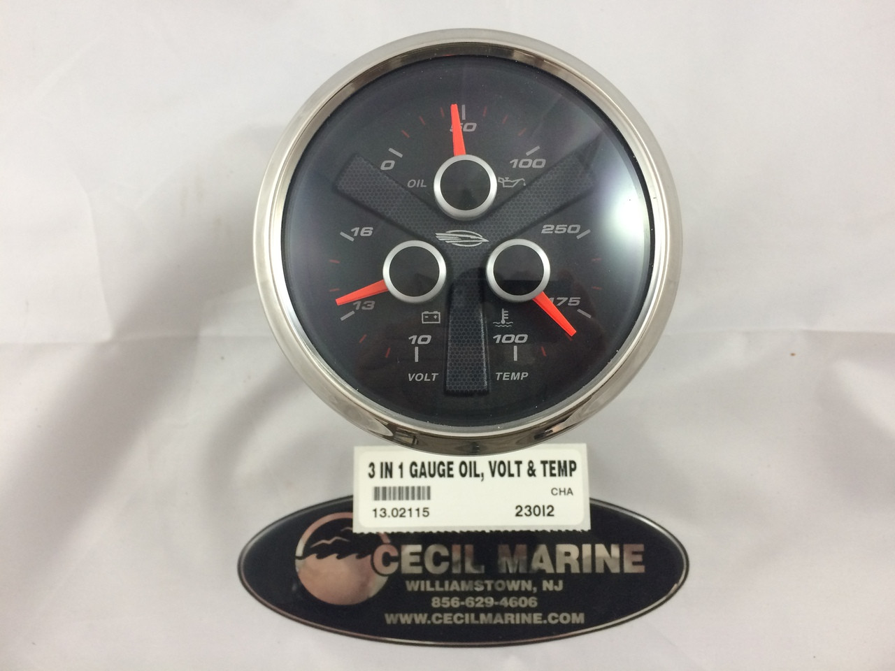 3 IN 1 GAUGE OIL, VOLT & TEMP 13.02115 - In Stock & Ready To Ship!