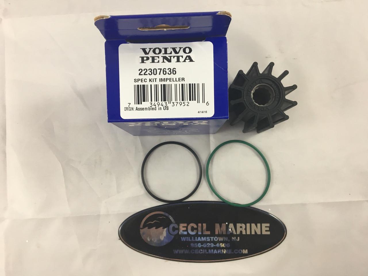 $57.87* GENUINE VOLVO IMPELLER KIT 22307636 **In stock & ready to ship!