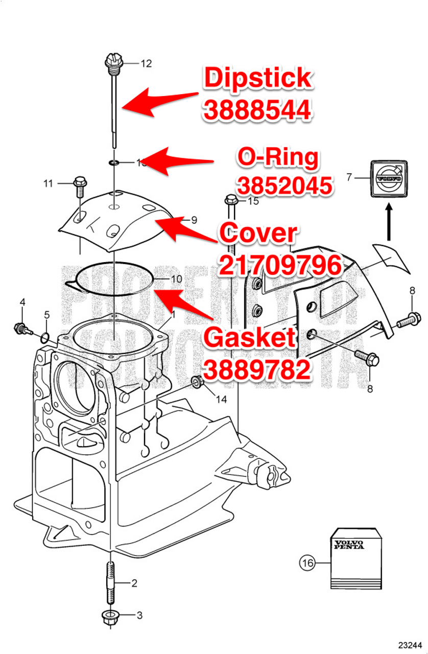 32 Volvo Penta 270 Outdrive Parts Diagram