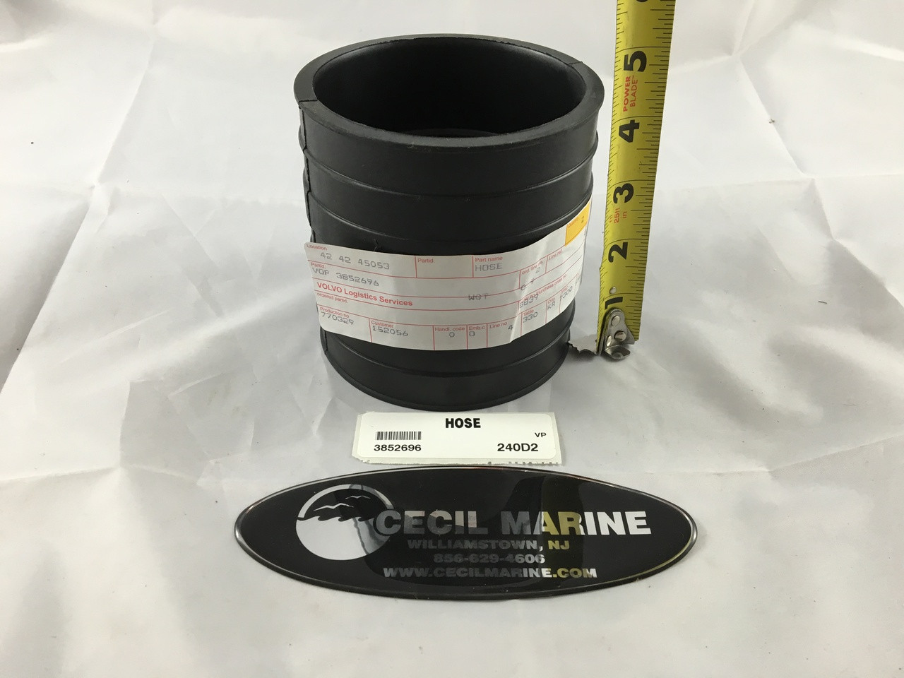 $35.85 GENUINE VOLVO HOSE EXHAUST 3852696 **In stock & ready to ship!