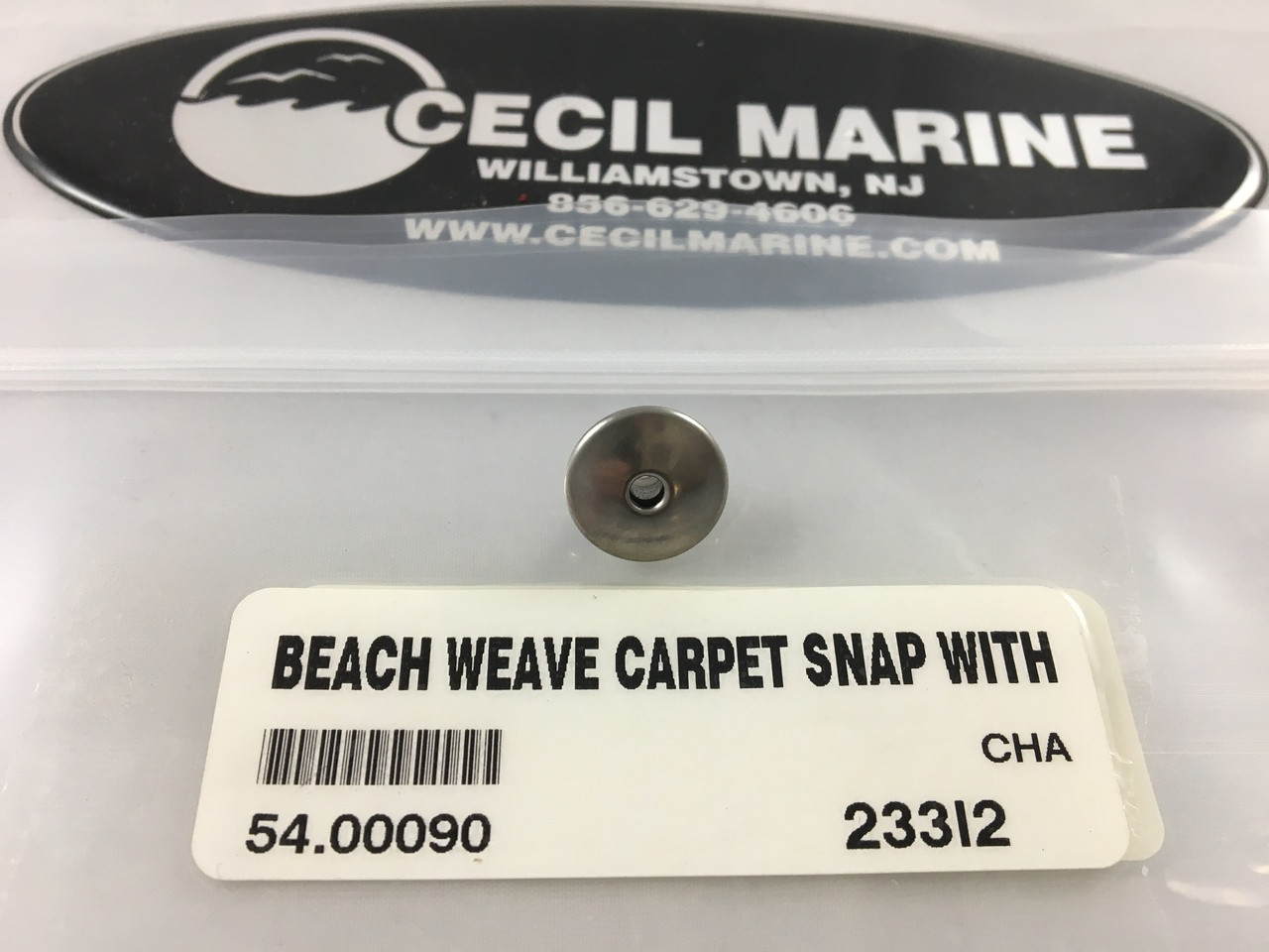BEACH WEAVE CARPET SNAP WITH CENTER HOLE - 10 SNAPS PER BAG - 54.00090