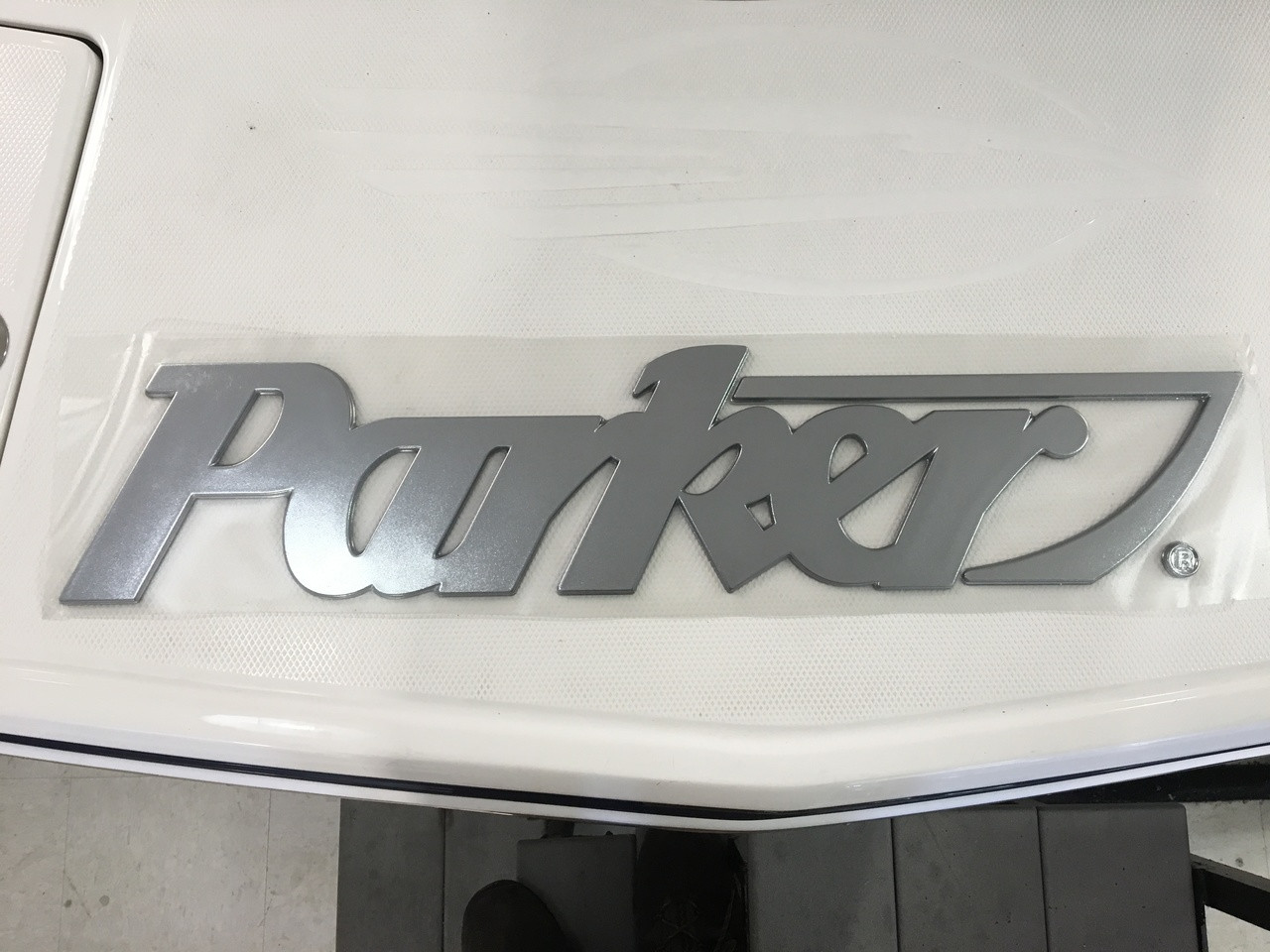 "PARKER CHROME LOGO - 30"" Long   6 1/2"" high *In Stock & Ready To Ship!"