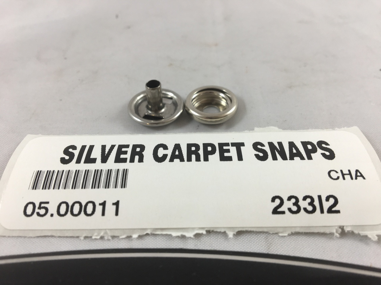 CARPET SNAPS STAINLESS STEEL ( BAG OF 10 ) 05.00011 **In stock & ready to ship!