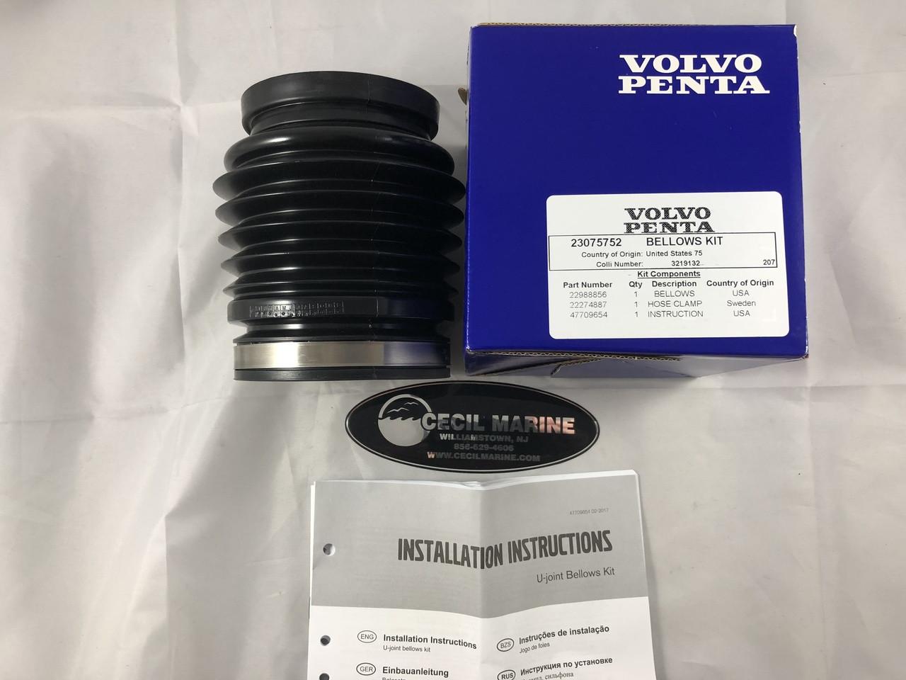 $60.07* GENUINE VOLVO U-JOINT BELLOWS KIT GENUINE VOLVO - 23075752 **In stock & ready to ship!