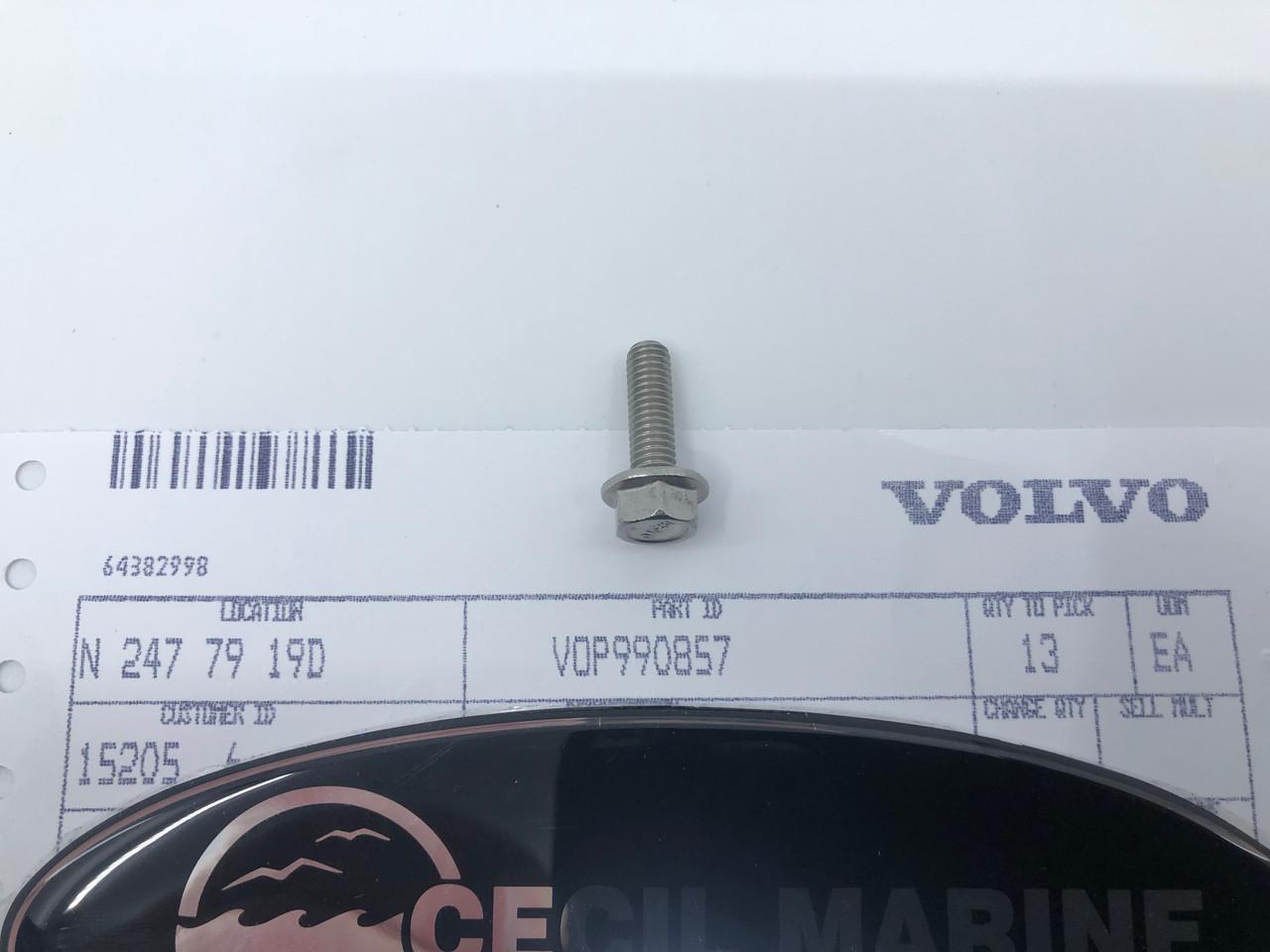 $5.95* GENUINE VOLVO FLANGE SCREW 990857 ** In Stock & Ready To Ship!
