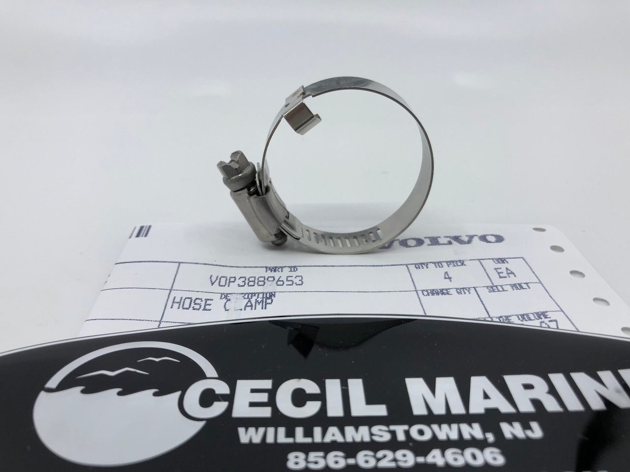 $5.95* GENUINE VOLVO PORT WATER HOSE CLAMP 3889653  **In Stock & Ready To Ship!