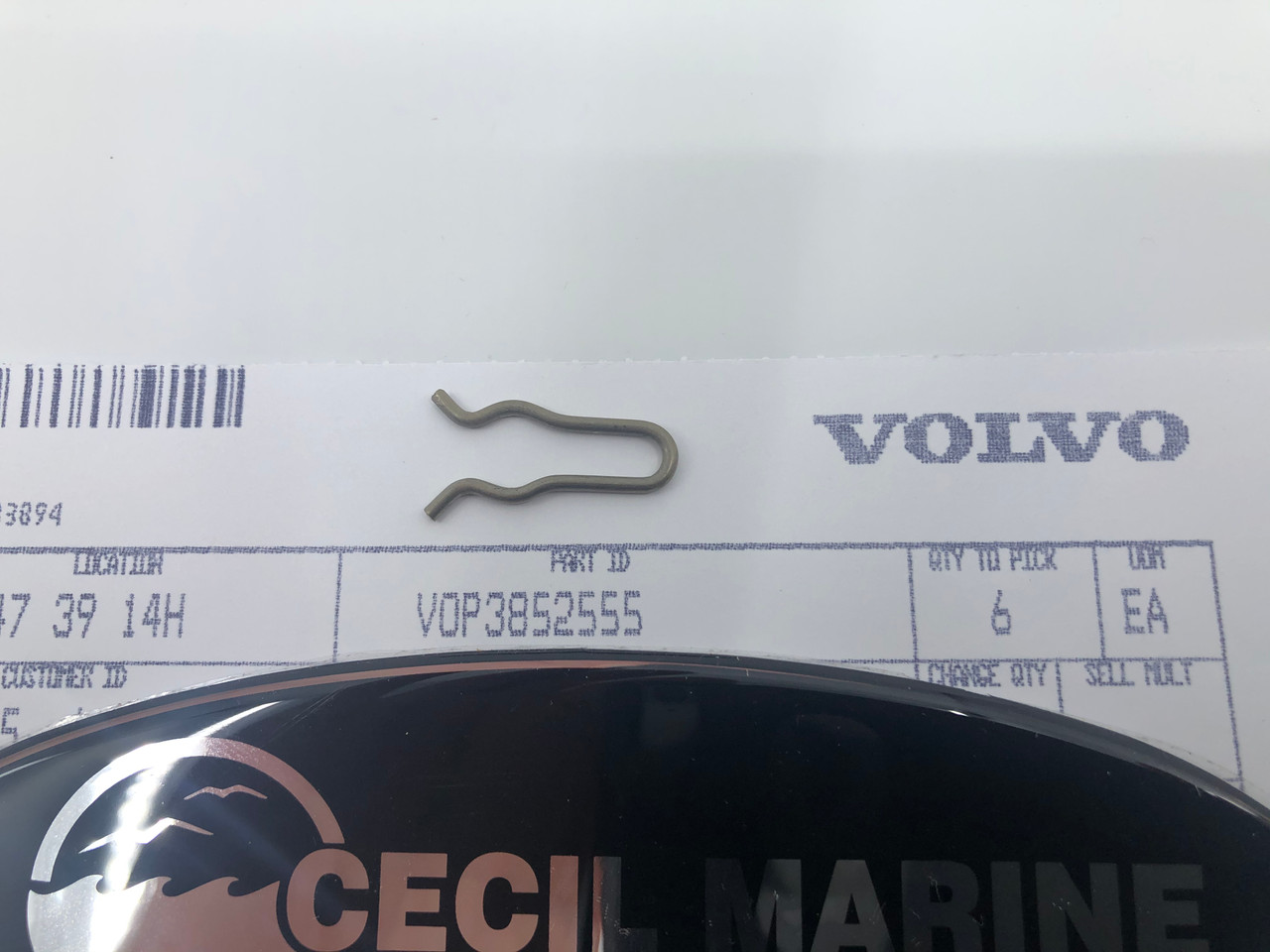 $7.95* GENUINE VOLVO RETAINER 3852555 * IN STOCK & READY TO SHIP!
