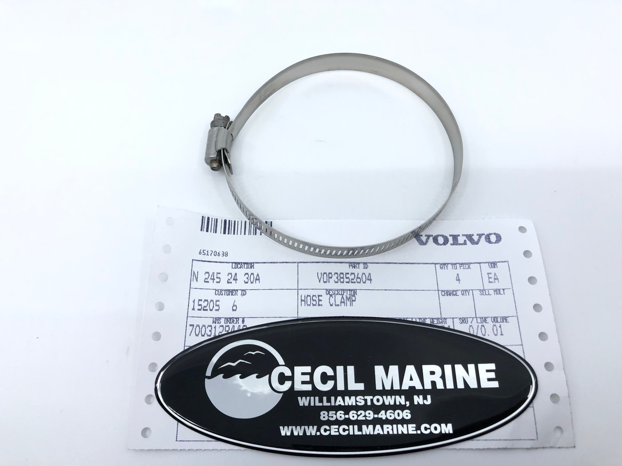 $19.99* HOSE CLAMP 3852604 Special Order 10 TO 14 Day Delivery