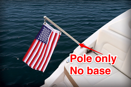 "GENUINE CHAPARRAL FLAG POLE ONLY STAINLESS STEEL 33"" x 1"" 27.00012 ** FLAG POLE ONLY ** NO BASE *In Stock & Ready To Ship!"