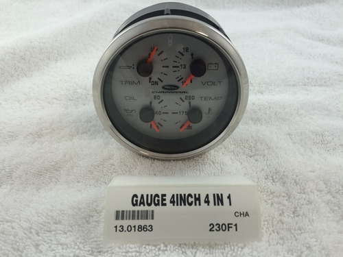 """4 IN 1 OIL/TEMP/VOLT/TRIM  3 1/4"""" HOLE SIZE- 13.01863 *In Stock & Ready To Ship!"""