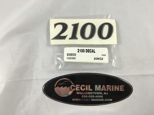 2100 PARKER HULL DESIGNATION DECAL