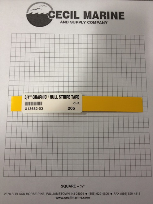 "3/4"" GRAPHIC / HULL STRIPE TAPE YELLOW  * SORRY THIS TAPE IS NO LONGER AVAILABLE"