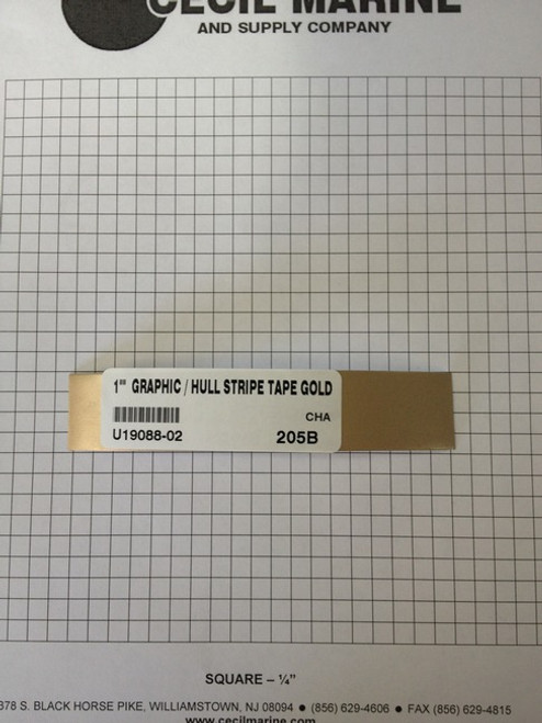 "1""  GRAPHIC / HULL STRIPE TAPE GOLD U19088-02 - Sorry no longer available"