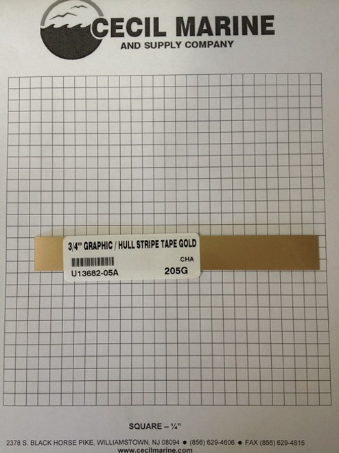 "3/4"" GRAPHIC / HULL STRIPE TAPE GOLD U13682-05A *** Sorry no longer available ***"