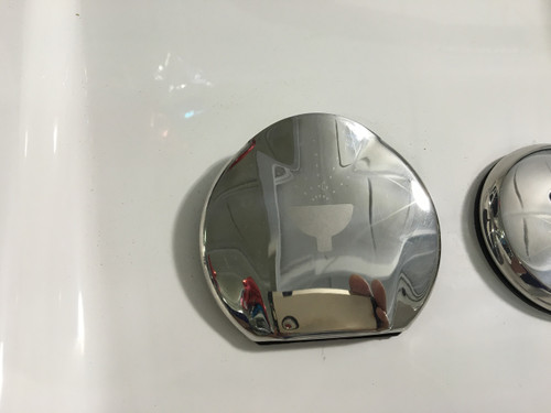 "REPLACEMENT STAINLESS STEEL TRANSOM SHOWER CUP & COVER ASSY. REQUIRES A 3 1/8"" HOLE **In Stock & Ready To Ship!"