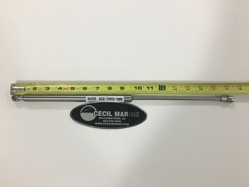 "SHOCK - 20 LBS - 17"" 1/2  LONG - 10MM ENDS - 40.00029"