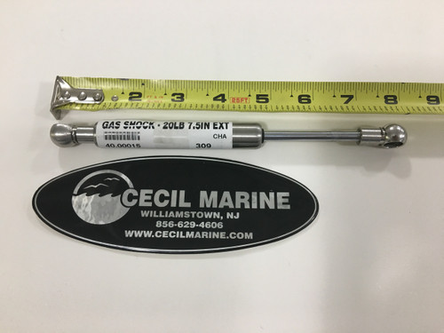 "SHOCK - 20 LBS - 7.5"" LONG - 10MM ENDS - 40.00015, SL11-20-1"