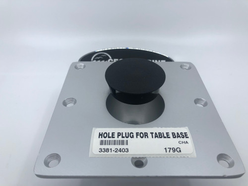 "HOLE PLUG FOR TABLE BASE WITH A 2 1/16"" OPENING  *In Stock & Ready To Ship!"