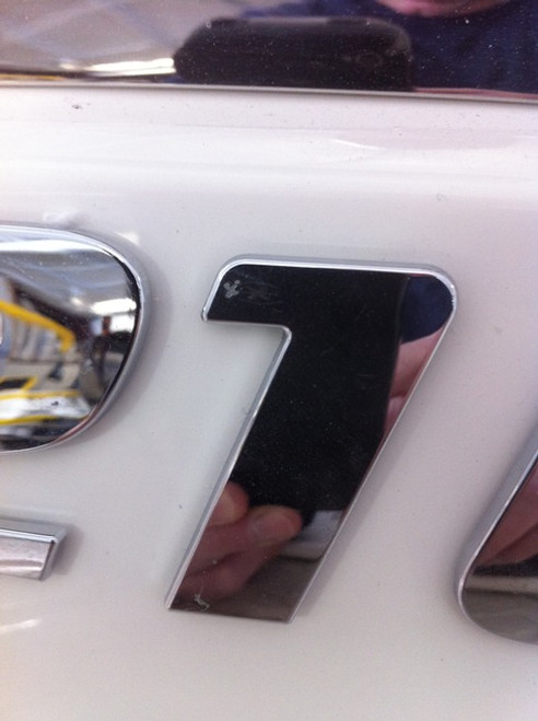 CHAPARRAL LOGO NUMBER 1  CHROME INJECTION MOLDED