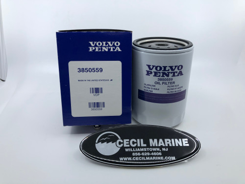 $11.18* GENUINE VOLVO OIL FILTER - 3850559 ** IN STOCK & READY TO SHIP!