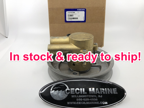$349.93* GENUINE VOLVO no tax SEA WATER PUMP 21212799  *In stock & ready to ship!