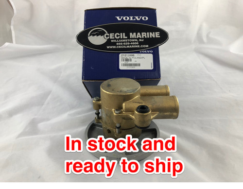 $324.93* GENUINE VOLVO no tax SEA WATER PUMP  21212800 *In Stock & Ready To Ship!