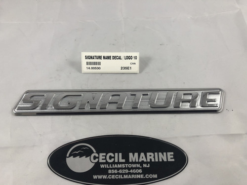 "SIGNATURE NAME DECAL / LOGO 10 3/4"" X 1 3/8"" *In stock & ready to ship!"
