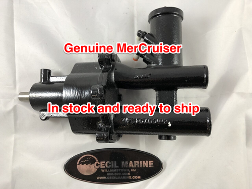 $725.95* GENUINE MERCRUISER BRASS SEAWATER PUMP WITH AIR FITTINGS  46-8M0139997 - ** IN STOCK & READY TO SHIP! **