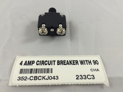 4 AMP CIRCUIT BREAKER WITH 90 DEGREE TERMINALS
