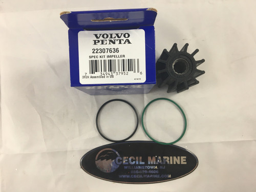 $46.75* GENUINE VOLVO no tax IMPELLER KIT 22307636 *In stock & ready to ship!