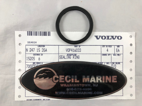$6.95 GENUINE VOLVO SEALING RING  416033 * In Stock & Ready To Ship!