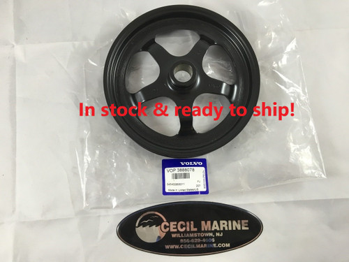 $139.95* GENUINE VOLVO POWER STEERING PULLEY 3888078 *In stock & ready to ship!