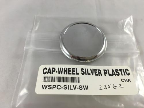 """CAP-WHEEL SILVER PLASTIC 1 3/4"""" DIAMETER - WSPC-SILV-SW"""