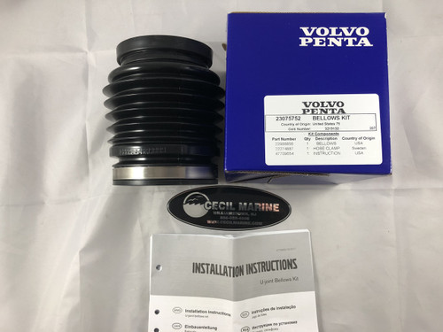 $49.94* GENUINE VOLVO no tax U-JOINT BELLOWS KIT GENUINE VOLVO - 23075752 **In stock & ready to ship!