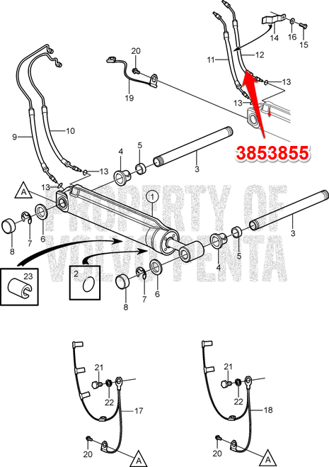 $59.28* GENUINE VOLVO PORT SIDE OUTER TRIM LINE 3853855 *In Stock & Ready To Ship!