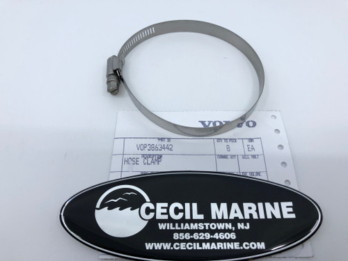 $3.95* GENUINE VOLVO HOSE CLAMP 3863442 *In Stock & Ready To Ship!