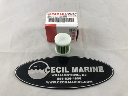 $18.99 OEM Yamaha Fuel Filter Element,  6D8-WS24A-00 (fits select 25-115-HP 4 stroke engines)   **In stock and ready to ship**