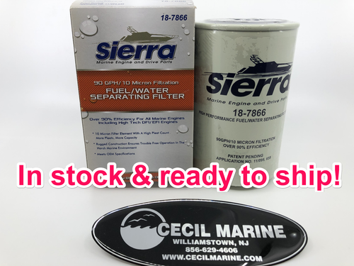 $15.99 **Sierra 18-7866 10 micron fuel water separator  **IN STOCK READY TO SHIP**