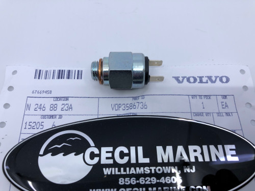 $59.95* GENUINE VOLVO  PRESSURE SWITCH 3586736  Special Order 10 TO 14 Day Delivery