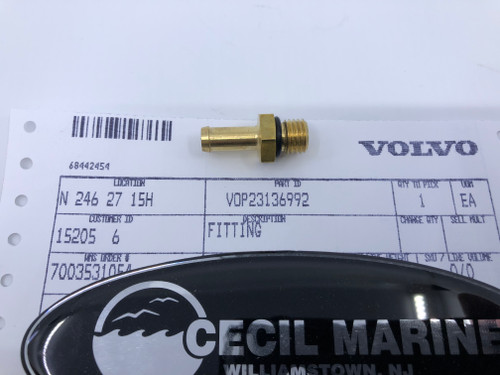 $7.95  * GENUINE VOLVO FITTING 23136992 Special Order 10 TO 14 Day Delivery