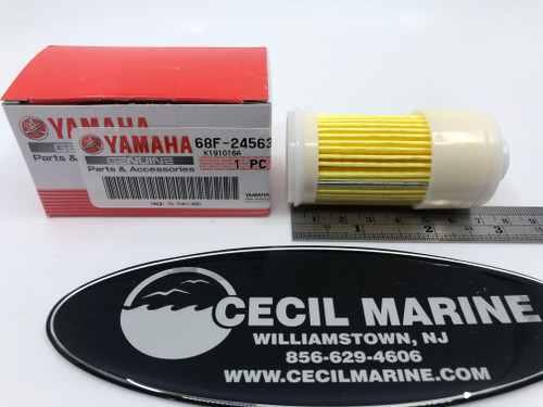 $25.15* GENUINE YAMAHA ELEMENT, FUEL FILTER 68F-24563-10-00 *In Stock & Ready To Ship!
