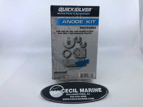 $149.95 * Genuine MerCruiser Alpha For Fresh Water Magnesium Anode Kit - 97-888755Q03  * IN STOCK & READY TO SHIP!