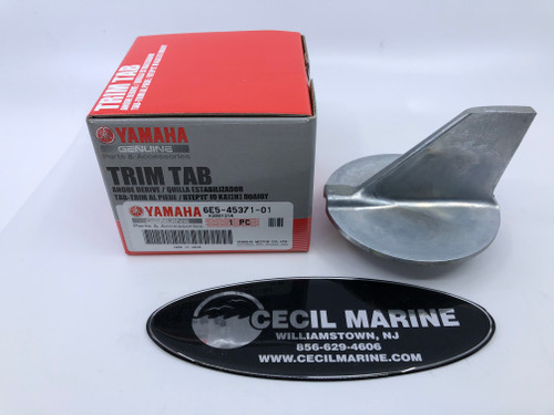 GENUINE YAMAHA TRIM-TAB 6E5-45371-01-00 IN STOCK & READY TO SHIP!