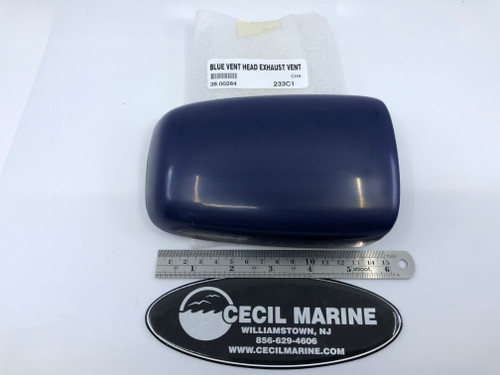 VENT - HEAD EXHAUST VENT IN BLUE / 38.00284 **In Stock & Ready To Ship! Product Total