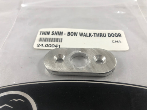 THIN SHIM - BOW WALK-THRU DOOR STRIKER PLATE