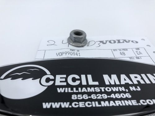 $1.95* GENUINE VOLVO  FLANGE NUT 990941 *In Stock & Ready To Ship!