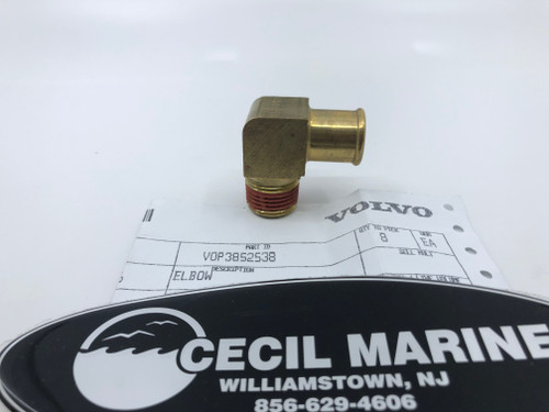 $41.95* GENUINE VOLVO  BRASS ELBOW 3852538 *In Stock & Ready To Ship!