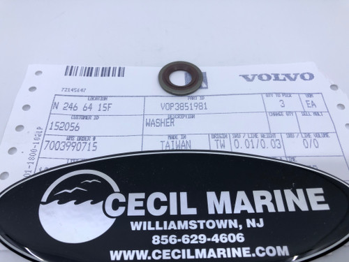 $19.99* GENUINE VOLVO WASHER 3851981 *In Stock & Ready To Ship!